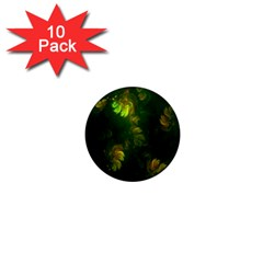 Light Fractal Plants 1  Mini Magnet (10 pack)