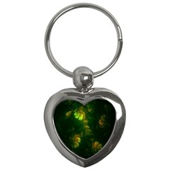 Light Fractal Plants Key Chains (Heart)