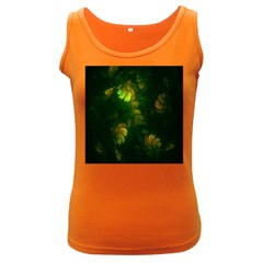 Light Fractal Plants Women s Dark Tank Top