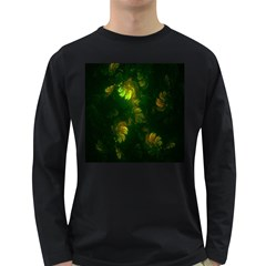 Light Fractal Plants Long Sleeve Dark T-Shirts