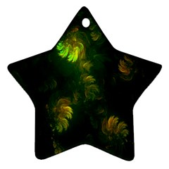 Light Fractal Plants Star Ornament (Two Sides)