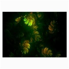 Light Fractal Plants Large Glasses Cloth