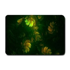 Light Fractal Plants Small Doormat