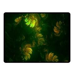 Light Fractal Plants Fleece Blanket (Small)