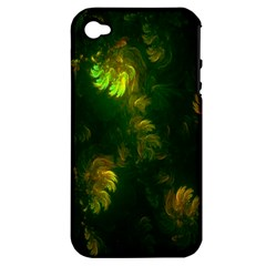 Light Fractal Plants Apple iPhone 4/4S Hardshell Case (PC+Silicone)