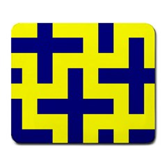 Pattern Blue Yellow Crosses Plus Style Bright Large Mousepads