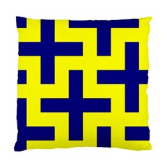 Pattern Blue Yellow Crosses Plus Style Bright Standard Cushion Case (Two Sides)