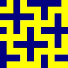 Pattern Blue Yellow Crosses Plus Style Bright Magic Photo Cubes