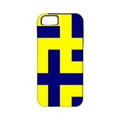 Pattern Blue Yellow Crosses Plus Style Bright Apple iPhone 5 Classic Hardshell Case (PC+Silicone)