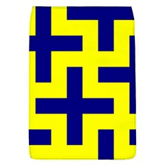 Pattern Blue Yellow Crosses Plus Style Bright Flap Covers (L)
