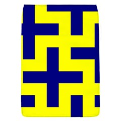 Pattern Blue Yellow Crosses Plus Style Bright Flap Covers (S)