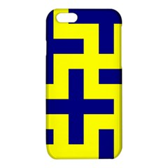 Pattern Blue Yellow Crosses Plus Style Bright iPhone 6/6S TPU Case