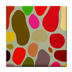 Pattern Design Abstract Shapes Tile Coasters