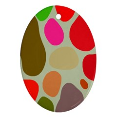 Pattern Design Abstract Shapes Ornament (Oval)