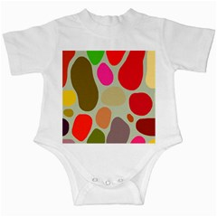 Pattern Design Abstract Shapes Infant Creepers