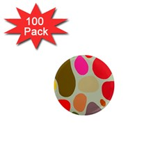 Pattern Design Abstract Shapes 1  Mini Magnets (100 pack)