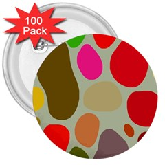 Pattern Design Abstract Shapes 3  Buttons (100 pack)