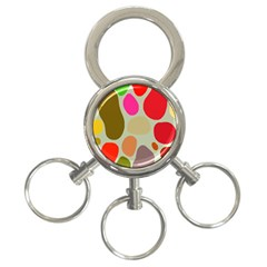 Pattern Design Abstract Shapes 3-Ring Key Chains