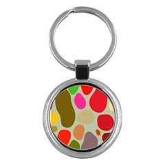 Pattern Design Abstract Shapes Key Chains (Round)