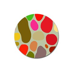 Pattern Design Abstract Shapes Magnet 3  (Round)