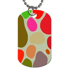 Pattern Design Abstract Shapes Dog Tag (Two Sides)