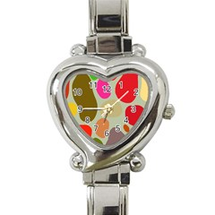 Pattern Design Abstract Shapes Heart Italian Charm Watch