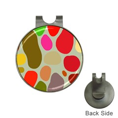 Pattern Design Abstract Shapes Hat Clips with Golf Markers