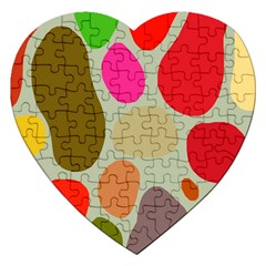 Pattern Design Abstract Shapes Jigsaw Puzzle (Heart)