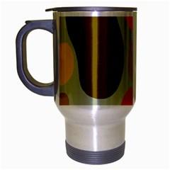 Pattern Design Abstract Shapes Travel Mug (Silver Gray)