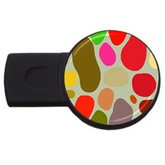 Pattern Design Abstract Shapes USB Flash Drive Round (4 GB)