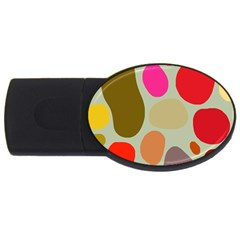 Pattern Design Abstract Shapes USB Flash Drive Oval (4 GB)