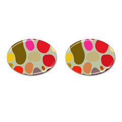 Pattern Design Abstract Shapes Cufflinks (Oval)