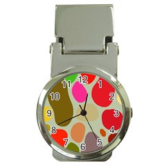 Pattern Design Abstract Shapes Money Clip Watches