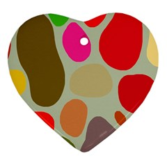 Pattern Design Abstract Shapes Heart Ornament (Two Sides)
