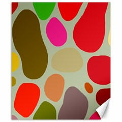 Pattern Design Abstract Shapes Canvas 8  x 10
