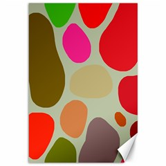 Pattern Design Abstract Shapes Canvas 12  x 18