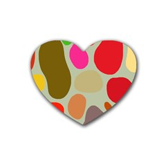 Pattern Design Abstract Shapes Rubber Coaster (Heart)