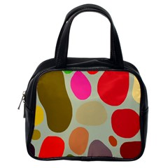 Pattern Design Abstract Shapes Classic Handbags (One Side)