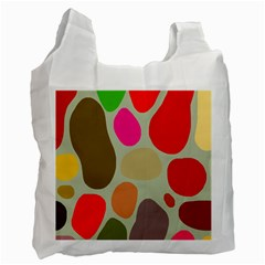 Pattern Design Abstract Shapes Recycle Bag (Two Side)