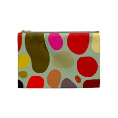Pattern Design Abstract Shapes Cosmetic Bag (Medium)