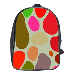 Pattern Design Abstract Shapes School Bags(Large)