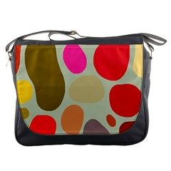 Pattern Design Abstract Shapes Messenger Bags
