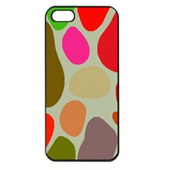 Pattern Design Abstract Shapes Apple iPhone 5 Seamless Case (Black)