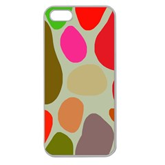 Pattern Design Abstract Shapes Apple Seamless iPhone 5 Case (Clear)