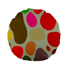 Pattern Design Abstract Shapes Standard 15  Premium Round Cushions