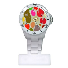 Pattern Design Abstract Shapes Plastic Nurses Watch