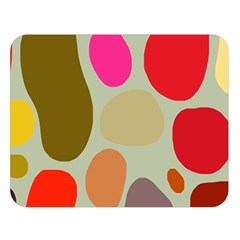 Pattern Design Abstract Shapes Double Sided Flano Blanket (Large)