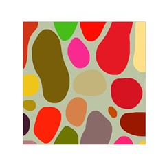 Pattern Design Abstract Shapes Small Satin Scarf (Square)