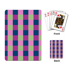 Pink Teal Lime Orchid Pattern Playing Card