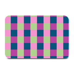 Pink Teal Lime Orchid Pattern Plate Mats